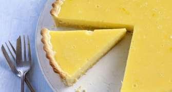 Cheesecake cu cremă de lămâie (fără coacere)