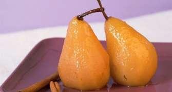 Pere aromatizate cu scorțișoară