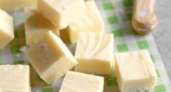 Fudge de ciocolată albă