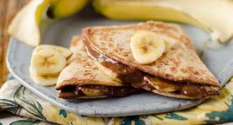 Quesadilla dulce, cu Nutella și banane