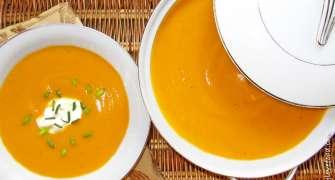 Supă cremă de cartofi dulci