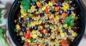 Salata cu fasole si cuscus