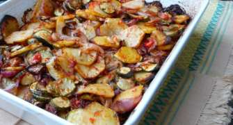 Briam - mâncare grecească de legume (de post)