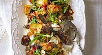Panzanella cu ciuperci