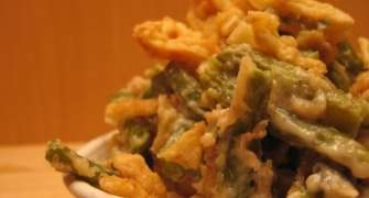 Fasole verde cu branza, la cuptor