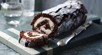 Ruladă de ciocolată cu cremă mascarpone