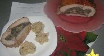 Rulada De Porc Cu Ciuperci Si Cascaval