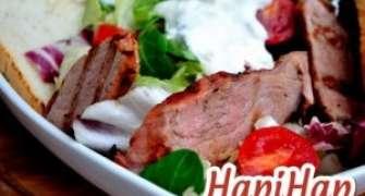 Salata cu porc fript si alioli