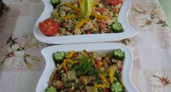 Fatoush -Salata de paine ( specific tarilor arabe)