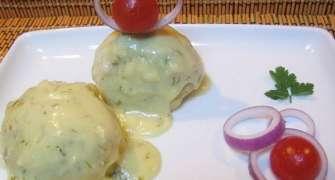 Galuste picante cu sos de ghimbir si marar