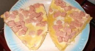 Pizza Iuliana( cu parizer)