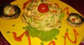 Salata  Rustica si Ciuperci la gratar